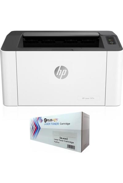 HP Laserjet 107A Lazer Yazıcı 4ZB77A + Pluscopy Tam Dolu Toner
