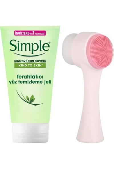 Simple Cilt Temizleme Fırçası + Simple Ferahlatıcı Yüz Temizleme Jeli 150ML