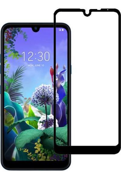 Microcase LG K50 - Q60 Tam Kaplayan Çerçeveli Tempered Ekran Koruyucu - Siyah