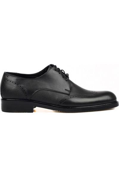 FootCourt Klasik Siyah Erkek Deri Ayakkabı