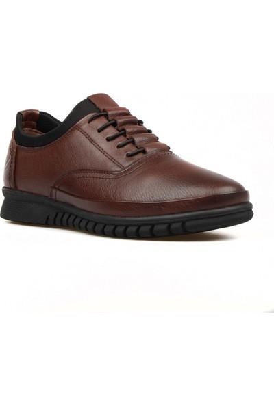 FootCourt Kahverengi Deri Erkek Ayakkabı