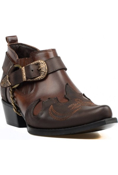 FootCourt Kahverengi Erkek Kovboy Ayakkabısı