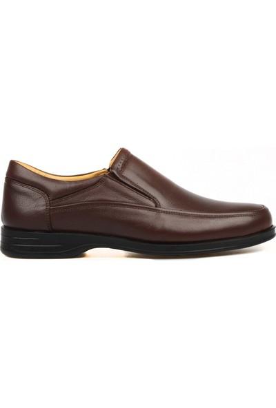 FootCourt Kahverengi Erkek Ortopedik Ayakkabı