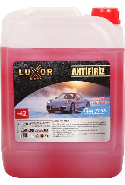 Luxor Kimya 4 Mevsim -42 Kırmızı Antifriz 5 l Konsantre