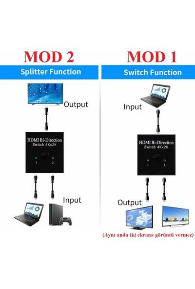 Alfais 4494 2 Port Çift Yönlü HDMI Switch Splitter