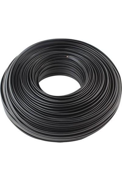 Mykablo Yassı Telefon Kablosu Siyah 100 mt