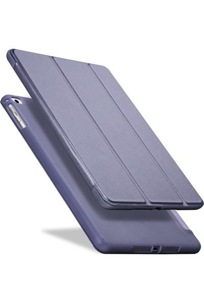 Fujimax ipad Pro 11 A1980 A2013 A1934 A1979 Seri Darbe Emici Yumuşak Silikon Smart Kılıf + 9H 330 Derece Bükülür Nano Temper+Japon Silikon Ekran Koruyucu Lacivert