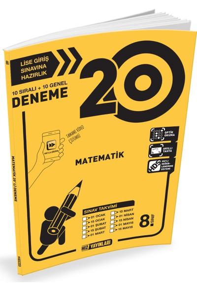 Hız Yayınları Matematik 8. Sınıf 20'li Deneme