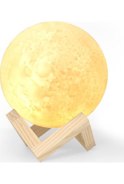 Petrix Moon 3D Dekoratif LED Aydınlatma 15 cm