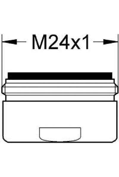 Grohe Lavabo Bataryası Perlatörü M24 X1 Dış Dişli Krom - 13929000