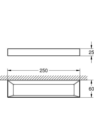 Grohe Selection Cube Halka havluluk - 40766000