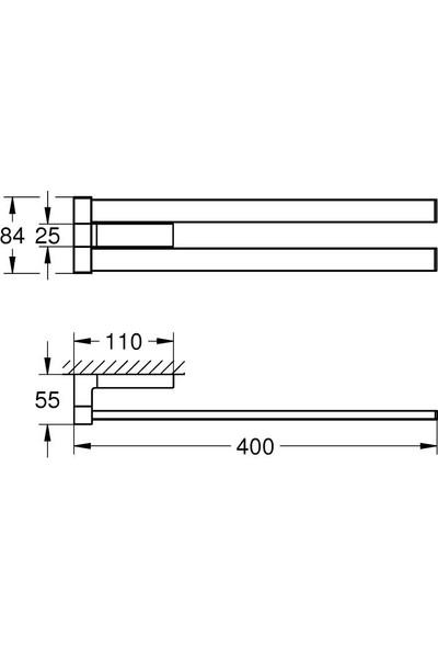 Grohe Selection Cube Havluluk - 40768000