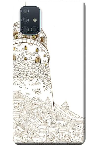 Kılıf Merkezi Samsung Galaxy A51 Kılıf (SM-A515F) Baskılı Silikon Kule STK:310