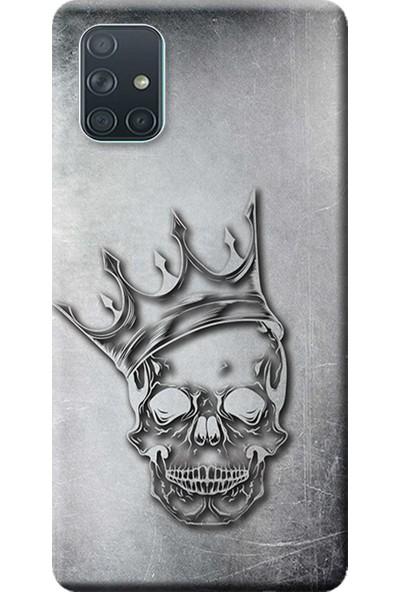 Kılıf Merkezi Samsung Galaxy A51 Kılıf (SM-A515F) Baskılı Silikon Kuru Kafa STK:583