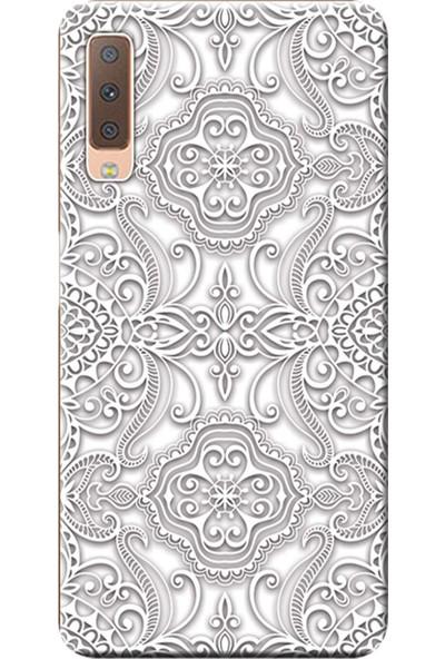Kılıf Merkezi Samsung Galaxy A7 2018 Kılıf (SM-A750F) Baskılı Silikon Vektör Tasarım STK:518