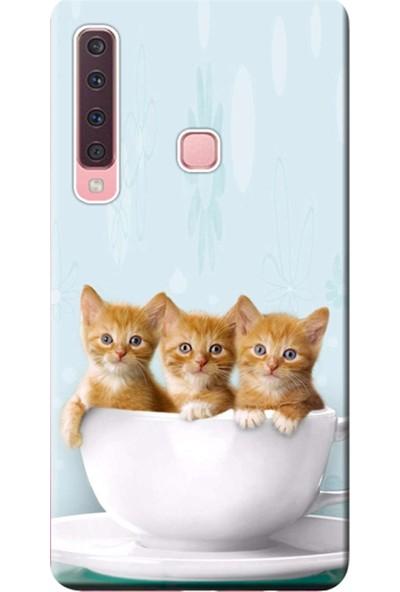 Kılıf Merkezi Samsung Galaxy A9 2018 Kılıf (SM-A920F) Baskılı Silikon Yavru Kediler STK:194