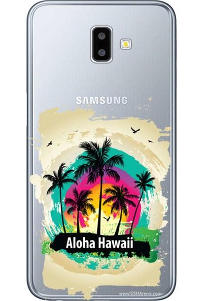 Kılıf Merkezi Samsung Galaxy J6 Plus Kılıf (SM-J610F) Baskılı Silikon Aloha Hawaii STK:349