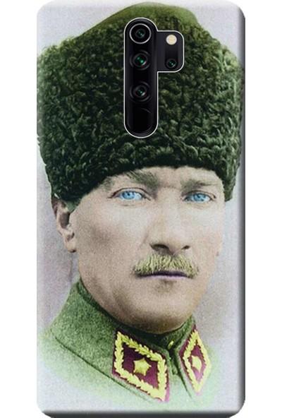 Kılıf Merkezi Xiaomi Redmi Note 8 Pro Kılıf Baskılı Silikon Mustafa Kemal Atatürk STK:392