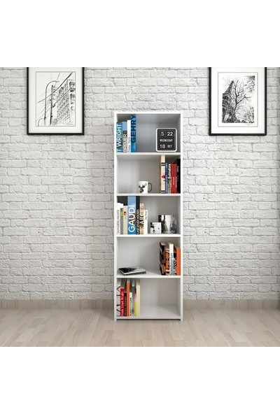 Badem Mobilya Dekoratif Ahşap Kitaplık