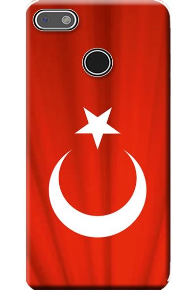 Kılıf Merkezi General Mobile Gm 8 GO Kılıf Baskılı Silikon Türk Bayrağı STK:370