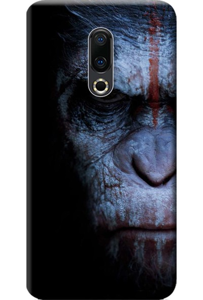 Kılıf Merkezi Meizu 16TH Kılıf Baskılı Silikon Maymun Face STK:147