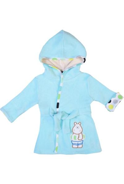 Organickid Hippo - Organik Pamuk Bebek - Çocuk Havlu Bornoz 2 Yaş