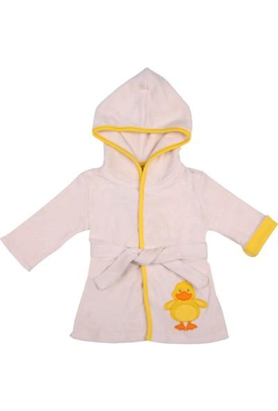 Organickid Ducky - Organik Pamuk Bebek - Çocuk Havlu Bornoz 5 Yaş