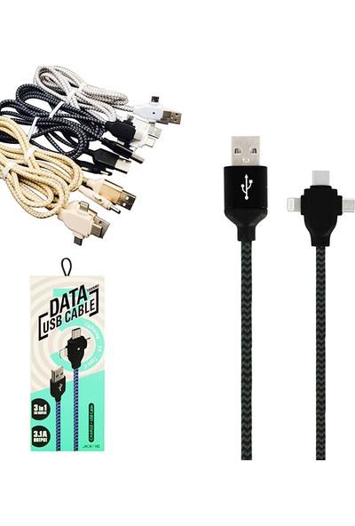 Uks Jkx-16 USB 3in1 Şarj ve Data Kablosu