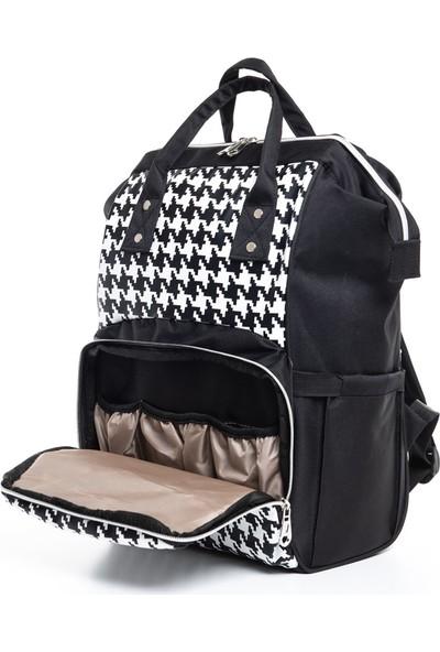 Trend Baby London Termo Bebek Bakım Sırt Çantası Siyah - Beyaz
