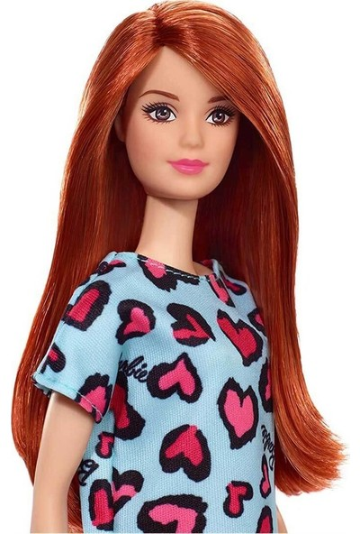 Barbie Şık Barbie Mavi Kalpli Elbise T7439 GHW48