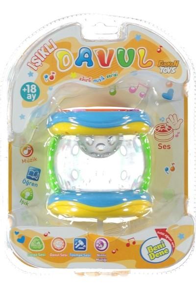 Furkan Toys Sesli Işıklı Eğlence Arkadaşlarım Işıklı Davul FR32048