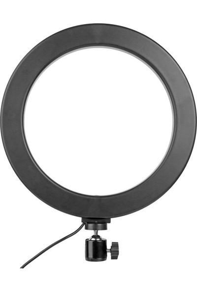 10 inç 3500-6000K Ayarlanabilir LED Stüdyo Ring Light Halka Işık