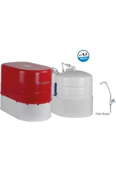 Aquaturk Aquatürk Safir Standart Pompalı Su Arıtma Cihazı (3-05-Sfr-Inc P)Kırmızı