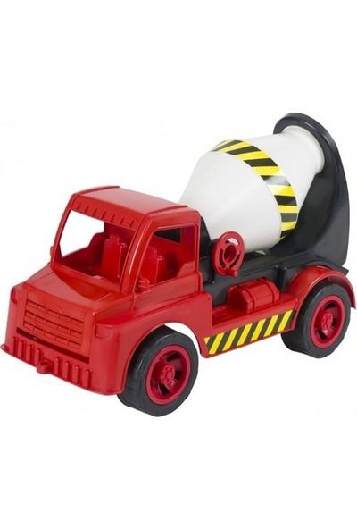 Enhoş Toys Mikser Kamyon İş Makinası 50 cm - Kırmızı