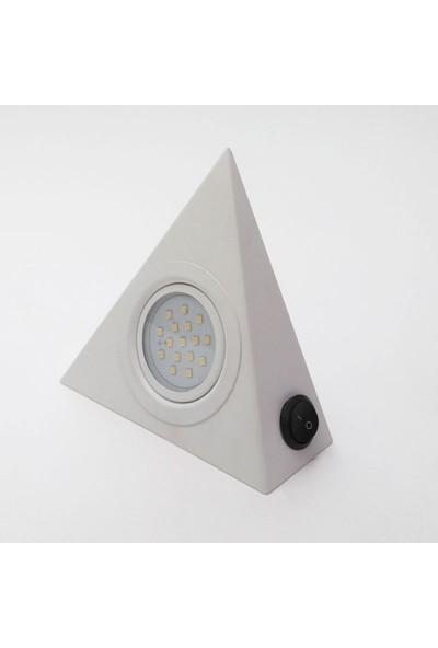 Bermax Dolap Altı Üçgen Spot Çoklu LED Beyaz Renk Gün Işığı 3 W