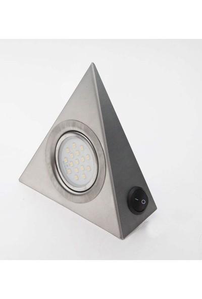 Bermax Dolap Altı Üçgen Spot Çoklu LED Beyaz Işık Inox 3W