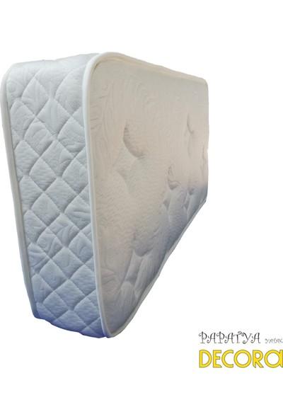 Decora Papatya Yaylı Ortopedik Pamuklu Kumaş Bebek Beşik Yatağı 60 x 120 cm