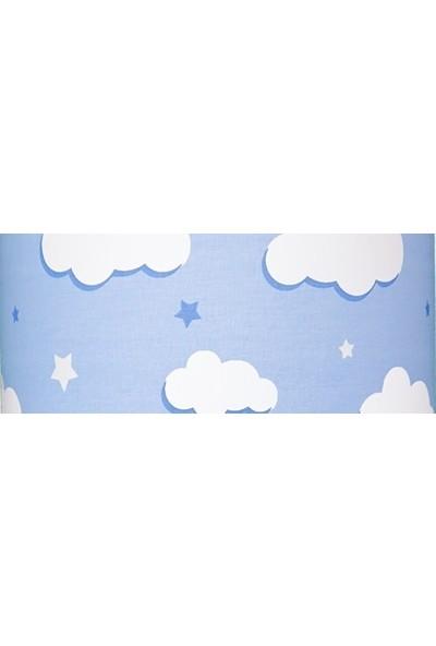 Şenay Aydınlatma Çocuk Odası Silindir Kumaş Avize-Mavi Bulut