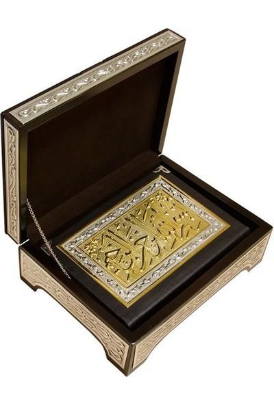 Sandıklı ve Rahleli Gümüş-Altın Kaplama Kuranı Kerim (Hafız Boy) - Ahmet Hüsrev Altınbaşak
