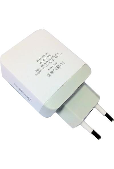 iBerry 18W Şarj Adaptörü + Type-C Data ve Şarj Kablosu
