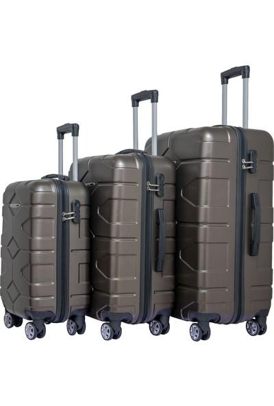 Nuovo Petek Vizon 3'lü Valiz Seyahat Seti