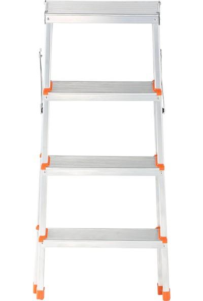 Elbe 4+4 Çift Çıkışlı Alüminyum Merdiven