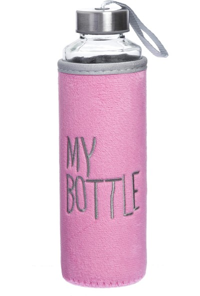 My Bottle Peluş Cam Matara 470 ml