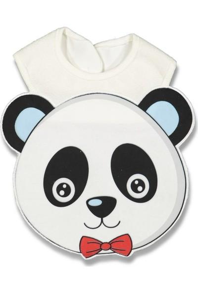 Baby Bibs Erkek Panda Figürlü Önlük
