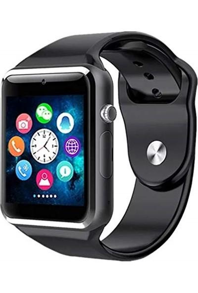 Sezy Ae-W8 Kameralı Bluetooth Akıllı Saat Siyah