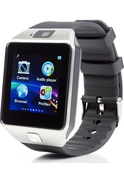 Sezy AE-W18 Kameralı Bluetooth Akıllı Saat Siyah-Gri