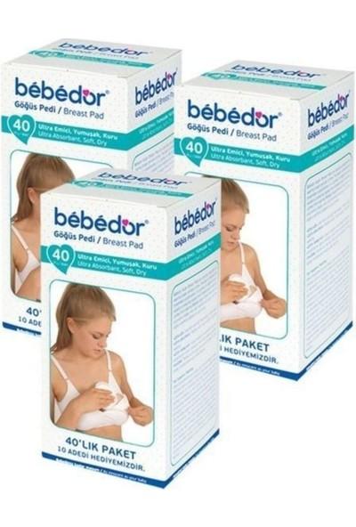 Bebedor Polietilen Dış Yüzeyli Göğüs Pedi 40'lı - 3 Paket