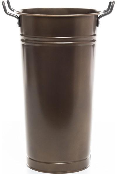 Lemonni Galvaniz Kahverengi 40CM Şemsiyelik - Vazo