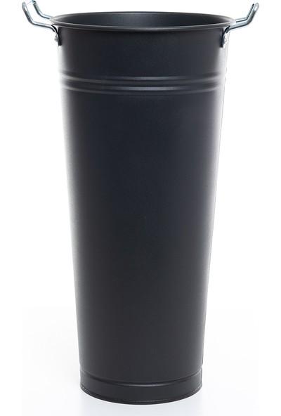 Lemonni Galvaniz Siyah 40CM Şemsiyelik - Vazo