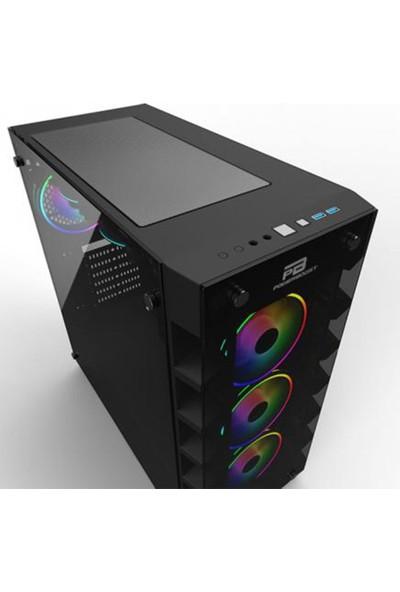 Powerboost X-59 650W 80+ USB 3.0 Tempered Glass 6 x Raınbow Fıxed LED Fanlı Oyuncu Kasa